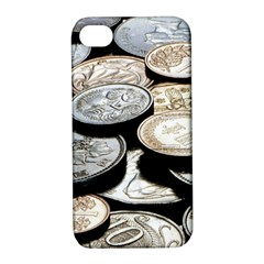 Foreign Coins Apple Iphone 4/4s Hardshell Case With Stand