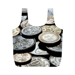 FOREIGN COINS Full Print Recycle Bags (M)