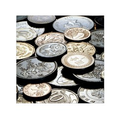 Foreign Coins Small Satin Scarf (square)