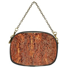 Flaky Rusting Metal Chain Purses (two Sides)