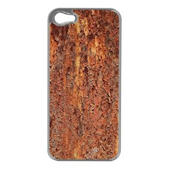 FLAKY RUSTING METAL Apple iPhone 5 Case (Silver)