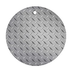 DIAMOND PLATE Round Ornament (Two Sides)