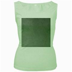 GREY SUEDE Women s Green Tank Tops