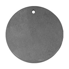 GREY SUEDE Round Ornament (Two Sides)