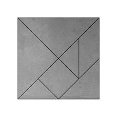 GREY SUEDE Acrylic Tangram Puzzle (4  x 4 )