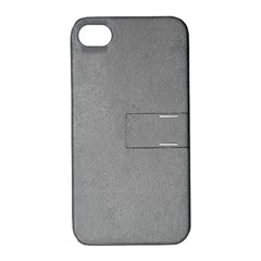 Grey Suede Apple Iphone 4/4s Hardshell Case With Stand