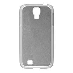 GREY SUEDE Samsung GALAXY S4 I9500/ I9505 Case (White)