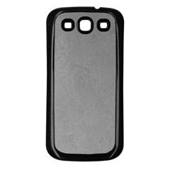 GREY SUEDE Samsung Galaxy S3 Back Case (Black)
