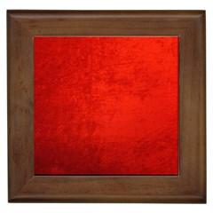CRUSHED RED VELVET Framed Tiles