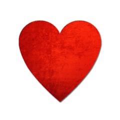 CRUSHED RED VELVET Heart Magnet