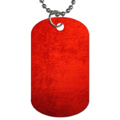 CRUSHED RED VELVET Dog Tag (Two Sides)