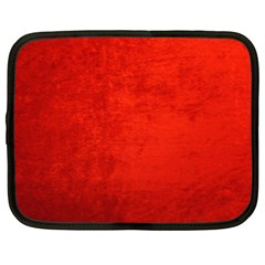 Crushed Red Velvet Netbook Case (xxl)