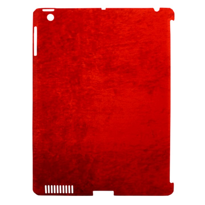CRUSHED RED VELVET Apple iPad 3/4 Hardshell Case (Compatible with Smart Cover)
