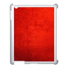 CRUSHED RED VELVET Apple iPad 3/4 Case (White)