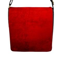 CRUSHED RED VELVET Flap Messenger Bag (L)