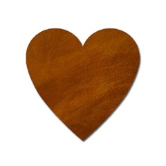 BRUSHED SUEDE TEXTURE Heart Magnet