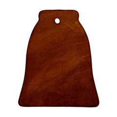 BRUSHED SUEDE TEXTURE Bell Ornament (2 Sides)