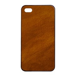 BRUSHED SUEDE TEXTURE Apple iPhone 4/4s Seamless Case (Black)