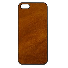 BRUSHED SUEDE TEXTURE Apple iPhone 5 Seamless Case (Black)
