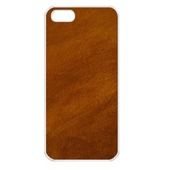 BRUSHED SUEDE TEXTURE Apple iPhone 5 Seamless Case (White)