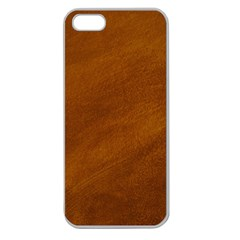 BRUSHED SUEDE TEXTURE Apple Seamless iPhone 5 Case (Clear)