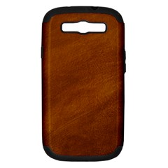 BRUSHED SUEDE TEXTURE Samsung Galaxy S III Hardshell Case (PC+Silicone)