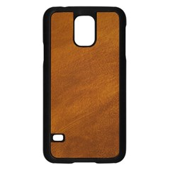 BRUSHED SUEDE TEXTURE Samsung Galaxy S5 Case (Black)