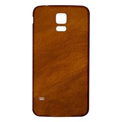 BRUSHED SUEDE TEXTURE Samsung Galaxy S5 Back Case (White)