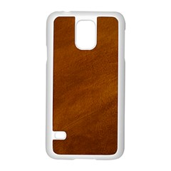 BRUSHED SUEDE TEXTURE Samsung Galaxy S5 Case (White)