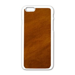 BRUSHED SUEDE TEXTURE Apple iPhone 6/6S White Enamel Case
