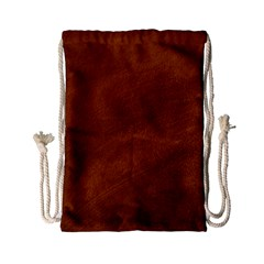 BRUSHED SUEDE TEXTURE Drawstring Bag (Small)