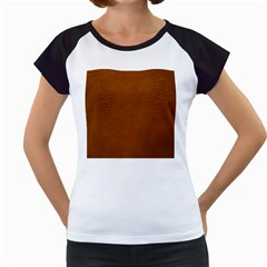 BROWN LEATHER Women s Cap Sleeve T