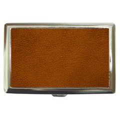 BROWN LEATHER Cigarette Money Cases