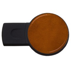 BROWN LEATHER USB Flash Drive Round (1 GB)