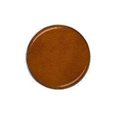 BROWN LEATHER Hat Clip Ball Marker (4 pack)