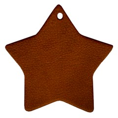 BROWN LEATHER Star Ornament (Two Sides)