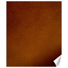 BROWN LEATHER Canvas 8  x 10