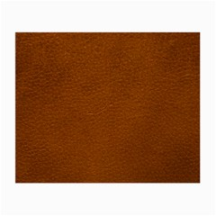 BROWN LEATHER Small Glasses Cloth (2-Side)
