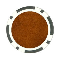 BROWN LEATHER Poker Chip Card Guards
