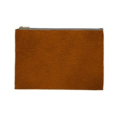 BROWN LEATHER Cosmetic Bag (Large)