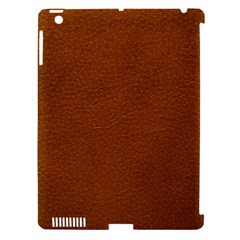 BROWN LEATHER Apple iPad 3/4 Hardshell Case (Compatible with Smart Cover)