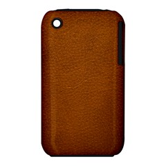 BROWN LEATHER Apple iPhone 3G/3GS Hardshell Case (PC+Silicone)