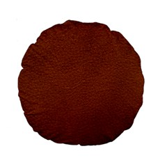 BROWN LEATHER Standard 15  Premium Round Cushions