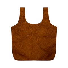 BROWN LEATHER Full Print Recycle Bags (M)