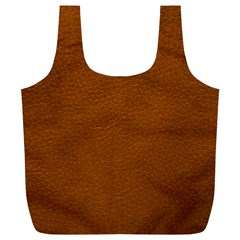 BROWN LEATHER Full Print Recycle Bags (L)