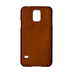 BROWN LEATHER Samsung Galaxy S5 Hardshell Case