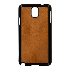 BROWN LEATHER Samsung Galaxy Note 3 Neo Hardshell Case (Black)