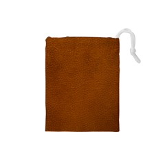 BROWN LEATHER Drawstring Pouches (Small)