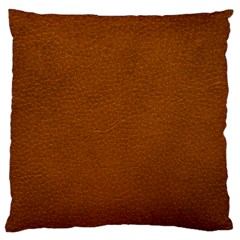 BROWN LEATHER Standard Flano Cushion Cases (Two Sides)