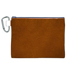 BROWN LEATHER Canvas Cosmetic Bag (XL)